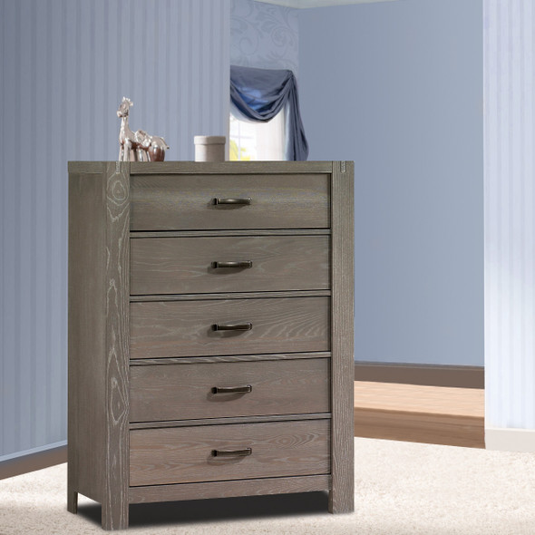Natart Rustico Collection 5 Drawer Dresser in Owl