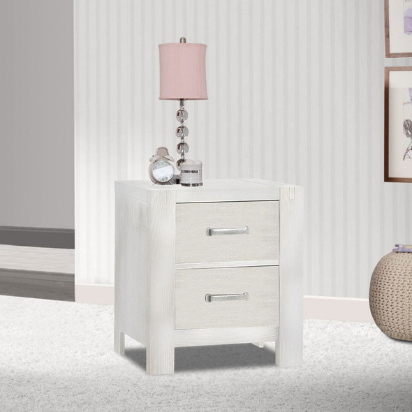 Natart Rustico Collection Nightstand in White