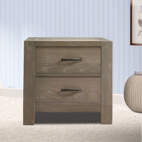 Natart Rustico Collection Nightstand in Sugar Cane
