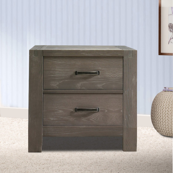 Natart Rustico Collection Nightstand in Owl