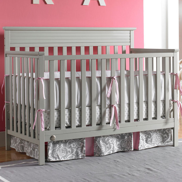 Fisher Price Newbury Convertible Crib in Misty Grey