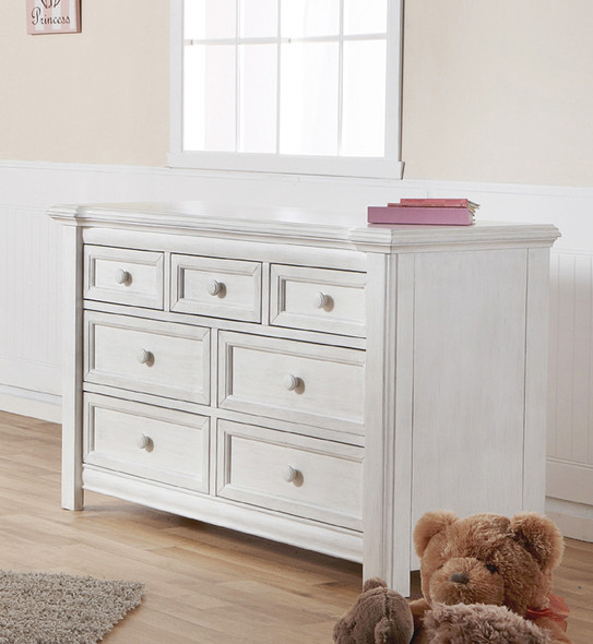 Pali Cristallo Double Dresser in Vintage White