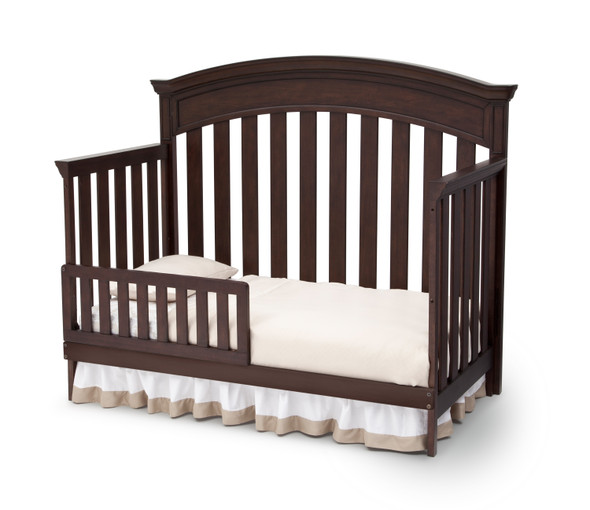 Simmons Castille Collection Toddler Rail in Antique Espresso