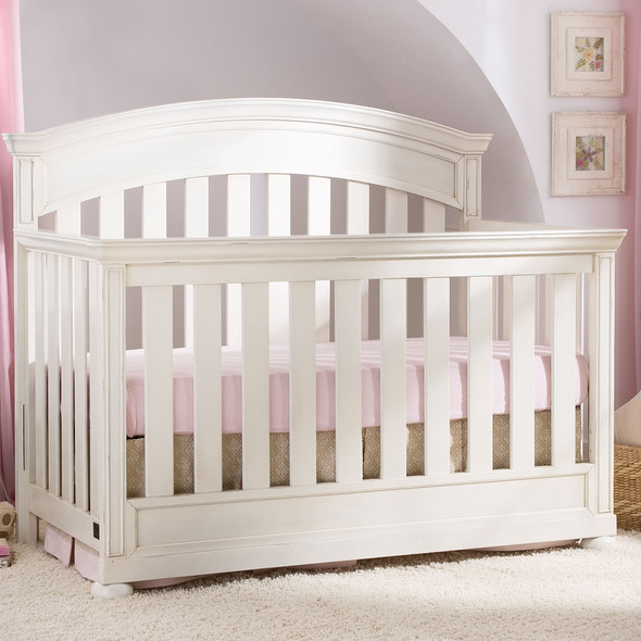 Simmons Castille Collection Crib in Vintage White