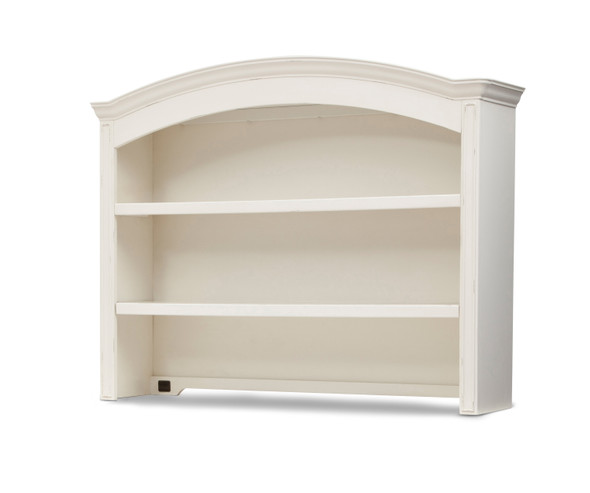 Simmons Castille Collection Bookcase/Hutch in Vintage White