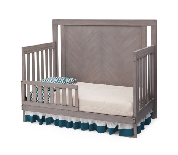 Simmons Chevron Toddler Guard Rail in Stained Grey
