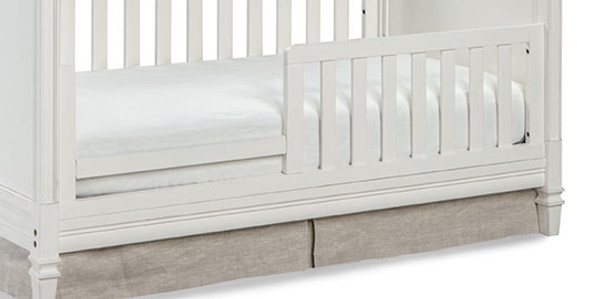 Brixy Haven Toddler Rail-Lifetime in White Linen
