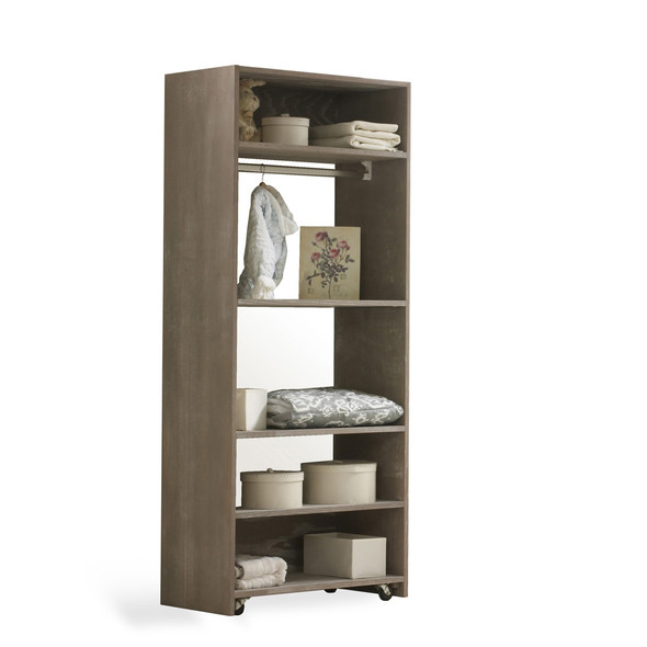 NEST Emerson Collection Convertible wardrobe system (included 3 shelves & 2 hanging rods) in Sugar Cane
