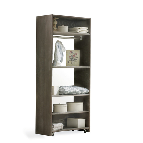 NEST Emerson Collection Convertible wardrobe system (included 3 shelves & 2 hanging rods) in Owl
