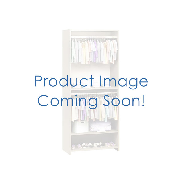 NEST Emerson Collection Convertible wardrobe system (included 3 shelves & 2 hanging rods) in White