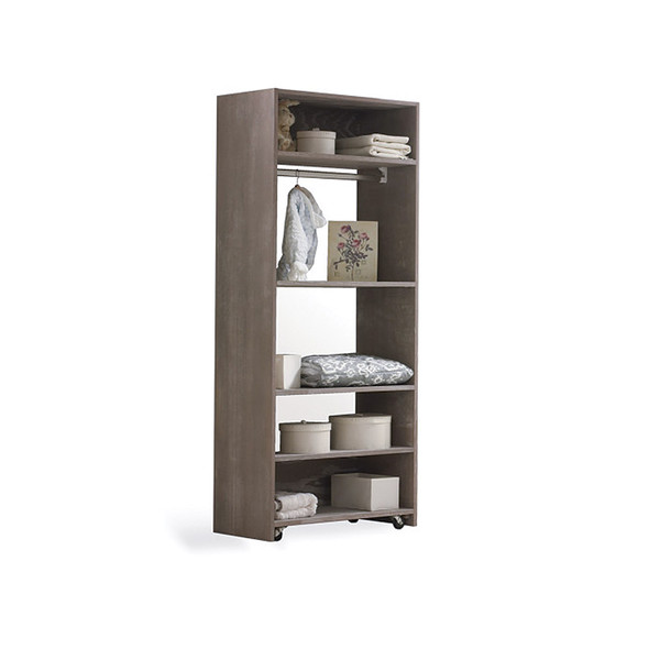 NEST Provence Collection Convertible wardrobe system (included 3 shelves & 2 hanging rods) in Owl