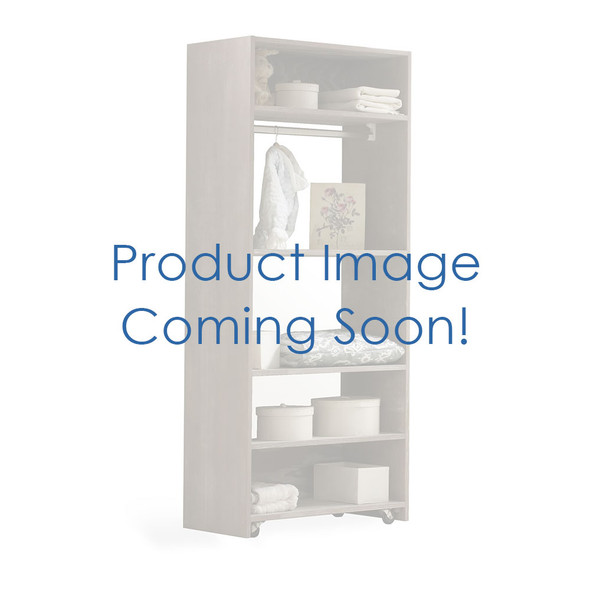 NEST Provence Collection Convertible wardrobe system (included 3 shelves & 2 hanging rods) in Mink