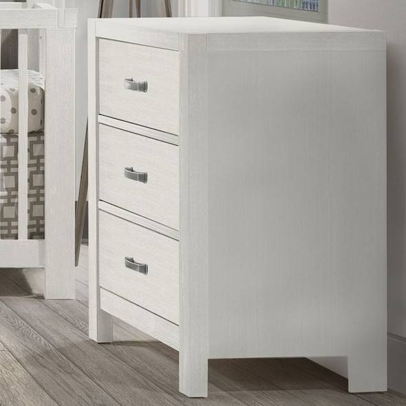 Natart Rustico Collection 3 Drawer Dresser in White