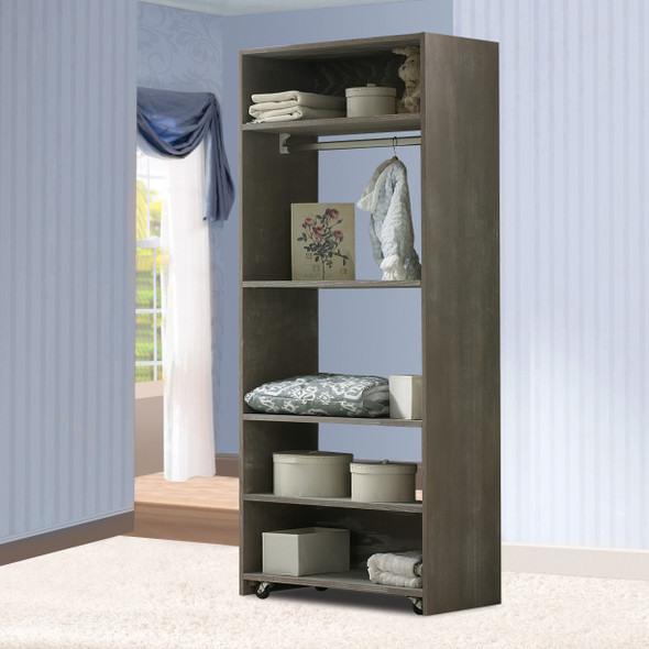 Natart Rustico Collection Convertible wardrobe system (included 3 shelves & 2 hanging rods) in Owl