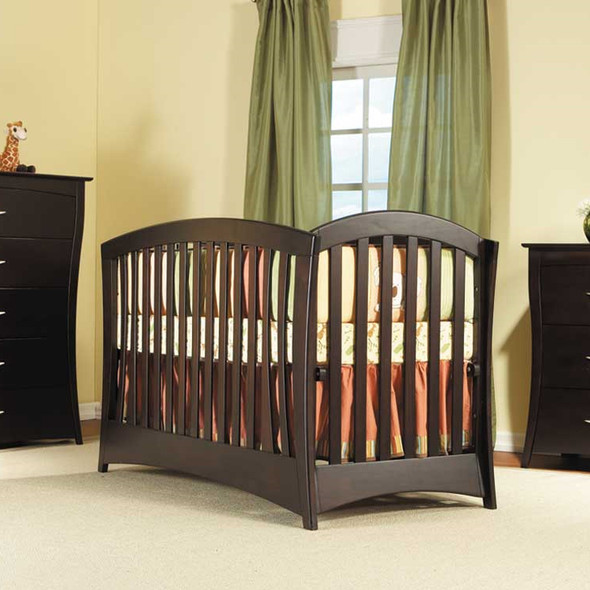 Trieste Collection La Spezia Forever Crib in Vintage Cherry