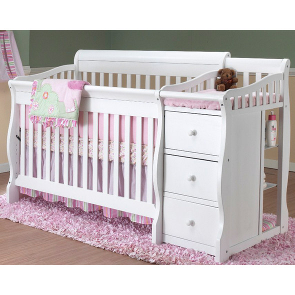 Tuscany Collection 4-1 Crib in White