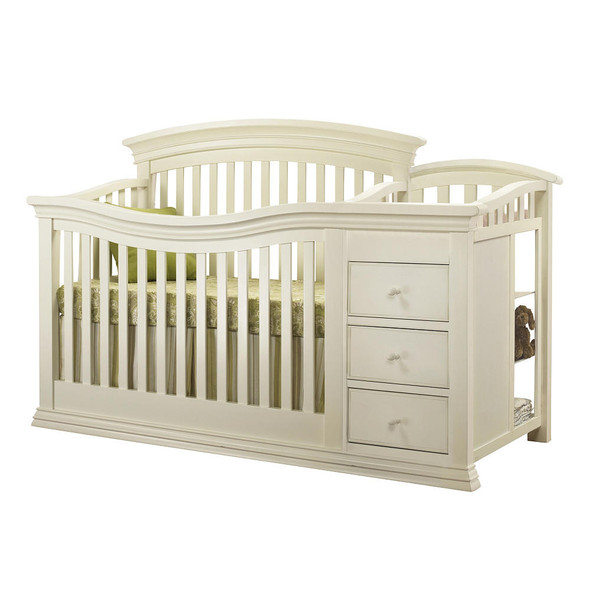 Verona Crib and Changer in French White
