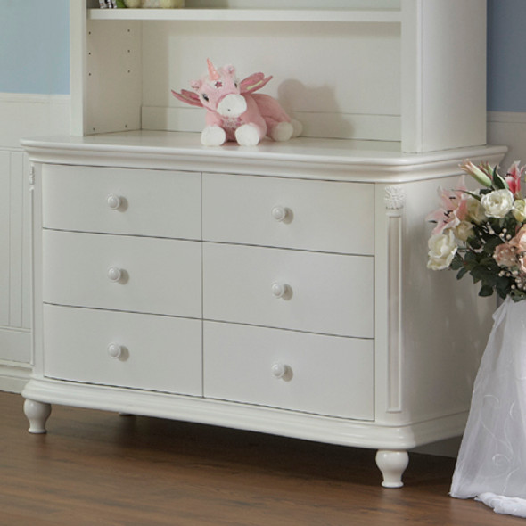 Pali Gardena Collection Double Dresser in White