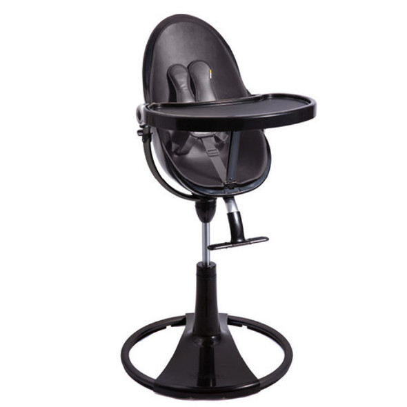 Bloom Fresco Chrome Highchair with Pad Starter Kit in Black and Midnight Black