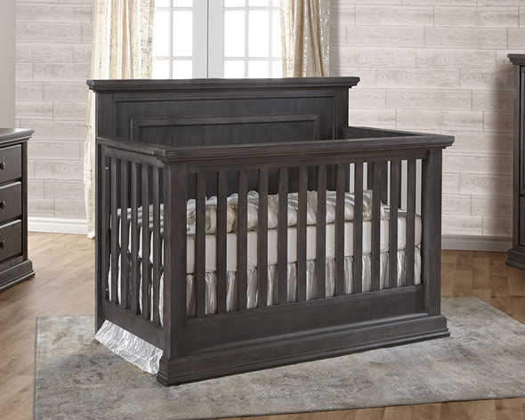 Pali Modena Collection 2 Piece Nursery Set in Granite - Crib and 5 Drawer Dresser