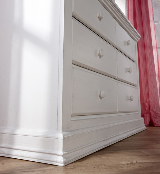 Pali Modena Collection 2 Piece Nursery Set in Vintage White - Crib and Double Dresser