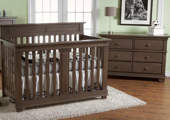 Pali Torino 2 Piece Nursery Set - Crib, Double Dresser in Slate