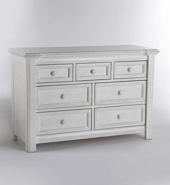 Pali Cristallo 2 Piece Nursery Set in Vintage White - Crib, Double Dresser