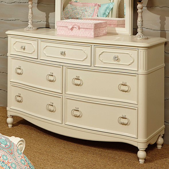 Legacy Classic Kids Harmony 7 Drawer Dresser in Antique Linen White