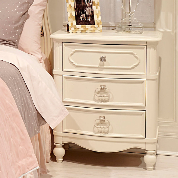 Legacy Classic Kids Harmony Night Stand in Antique Linen White