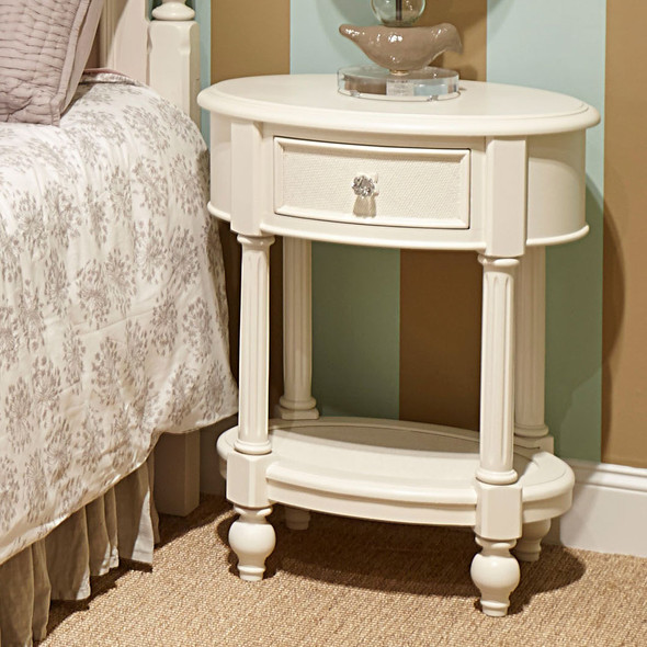 Legacy Classic Kids Harmony Oval Night Stand in Antique Linen White