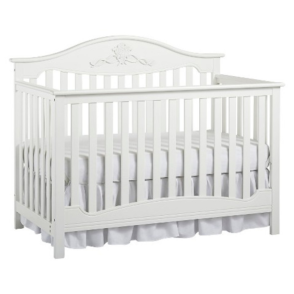 Fisher Price Mia 4 in 1 Convertible Crib in Snow White
