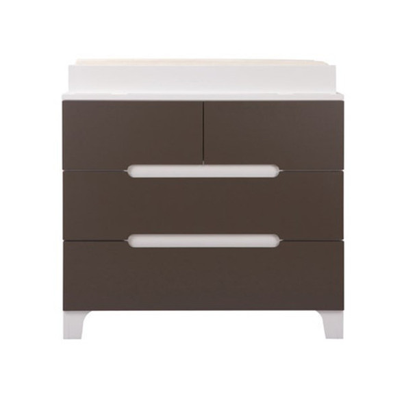 Bloom Alma Dresser in White with Frost Grey Drawers