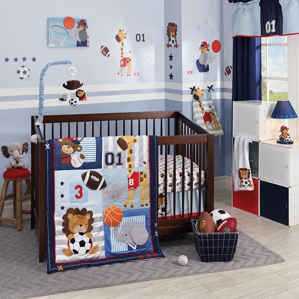 Lambs & Ivy Future All-Star 4 Piece Bedding Set