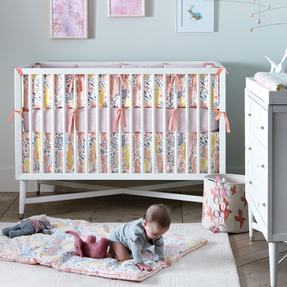 DwellStudio Mid Century Crib in French White