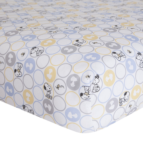 Lambs & Ivy My Little Snoopy Crib Sheet