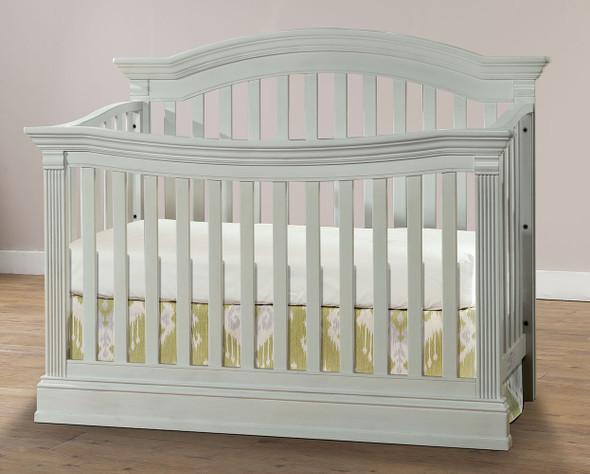 Stella Baby Trinity 2 Piece Nursery Set in Belgium Cream - Crib & 5 Drawer Dresser