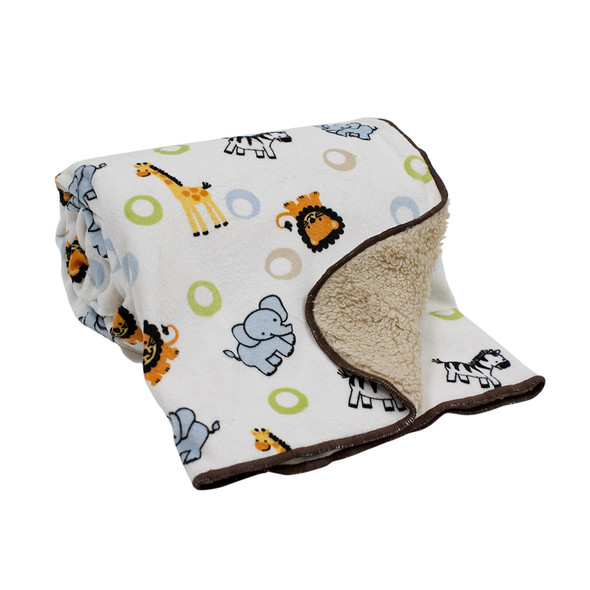 Bedtime Originals Jungle Buddies Sherpa Blanket