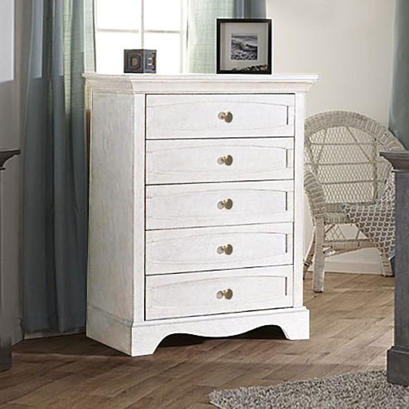 Pali Ragusa 5 Drawer Dresser in Vintage White