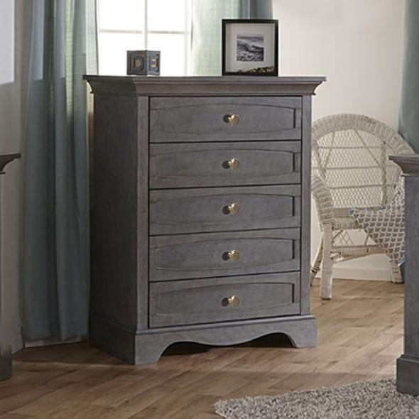 Pali Ragusa 5 Drawer Dresser in Distressed Granite