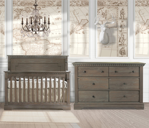 Natart Ithaca 2 Piece Nursery Set in Owl-Crib and Double Dresser