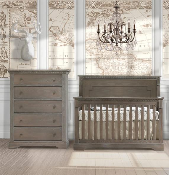 Natart Ithaca 2 Piece Nursery Set in Owl-Crib and 5 Drawer Dresser