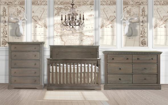 Natart Ithaca 3 Piece Nursery Set in Owl-Crib, Double Dresser, and 5 Drawer Dresser