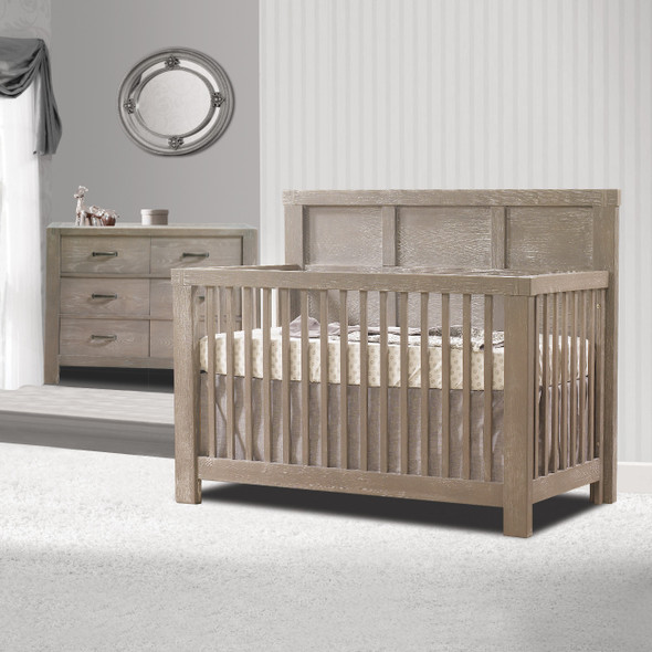 Natart Rustico 2 Piece Nursery Set in Sugar Cane-Crib and Double Dresser