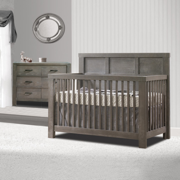 Natart Rustico 2 Piece Nursery Set in Owl-Crib and Double Dresser