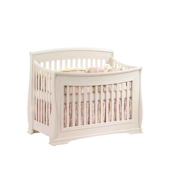 Natart Bella 2 Piece Nursery Set in Linen-Crib and 5 Drawer Dresser