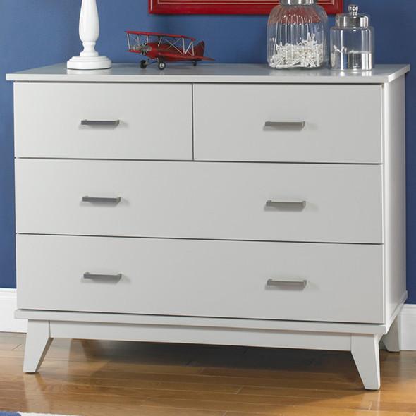 Ti Amo Moderna 4 Drawer Dresser in Misty Grey
