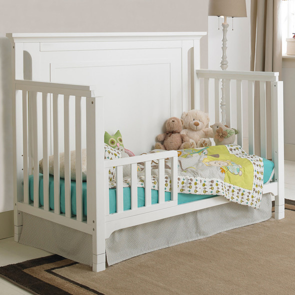 Ti Amo Carino Convertible Crib in Snow White