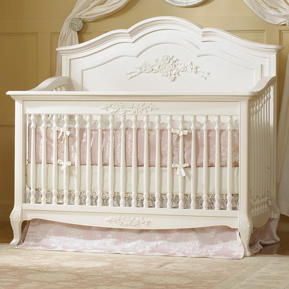 Dolce Babi Angelina 2 Piece Nursery Set in French Vanilla Crib, 5 Drawer
