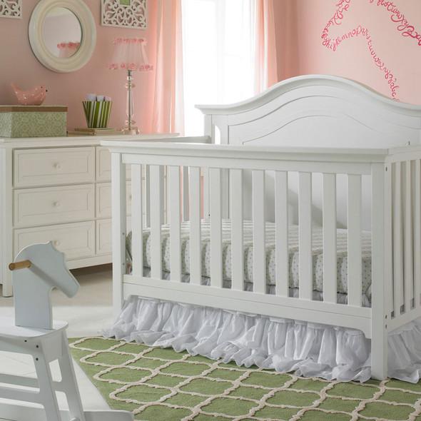 Ti Amo Catania 2 Piece Nursery Set Crib and Double Dresser in Snow White