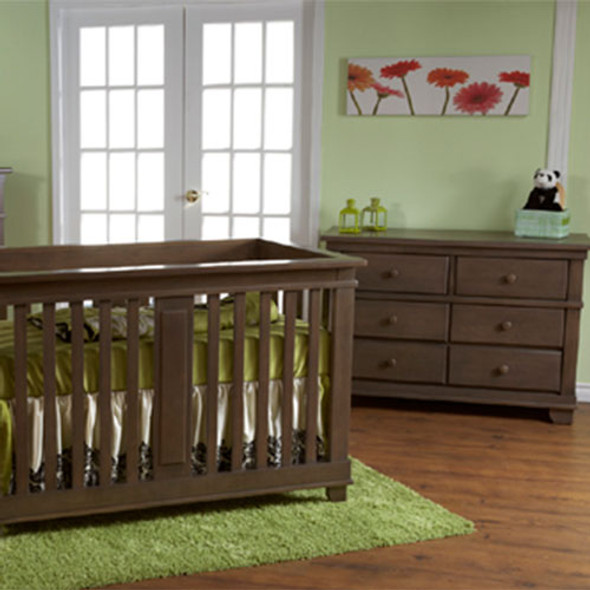 Pali Lucca 2 Piece Nursery Set Crib and Double Dresser in Slate